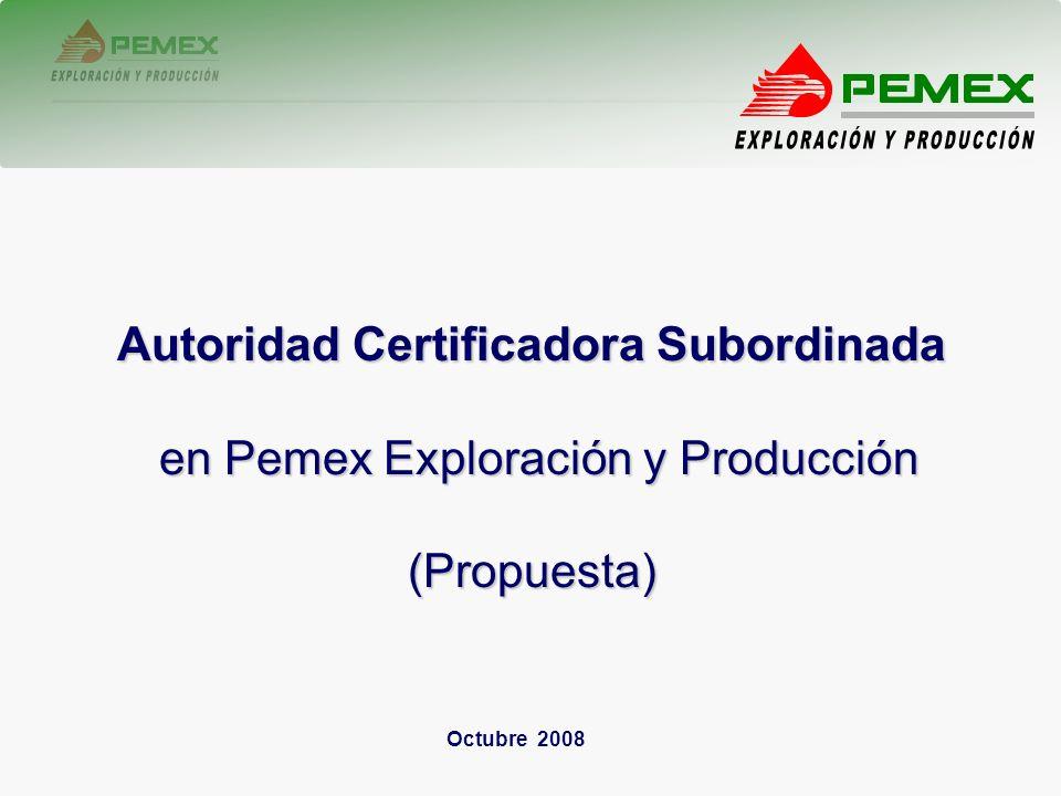 2 Firma Electrónica Autoridad Certificadora Subordinada (Original) Autoridades Certificadoras Subordinadas Agencias Registradoras Servidores Públicos, Proveedores y Contratistas Autoridad Certificadora Raíz de Petróleos Mexicanos y Organismos Subsidiarios Coordinación de Programas Gubernamentales y Consolidación Estratégica http://pepsedeclc02.sede.dpep.pep.pemex.com/ReaProg/WebLogin.aspx
