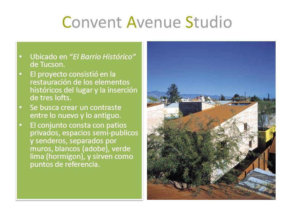 Convent Avenue Studio Ubicado en El Barrio Histórico de Tucson. El proyecto consistió en la restauración de los elementos históricos del lugar y la in