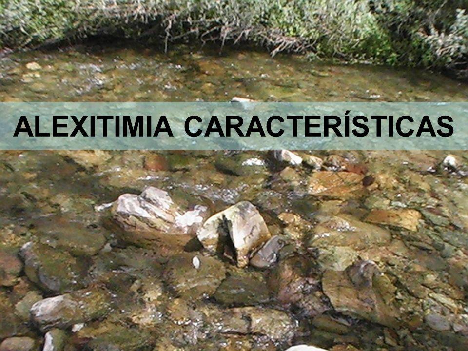 11 ALEXITIMIA CARACTERÍSTICAS