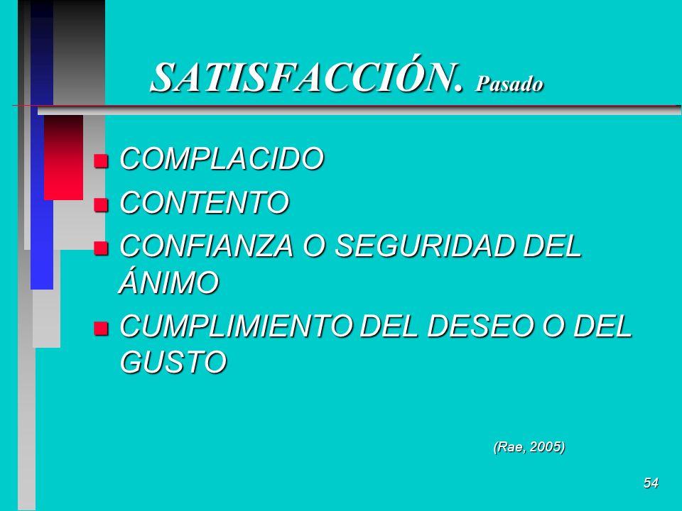 54 SATISFACCIÓN.