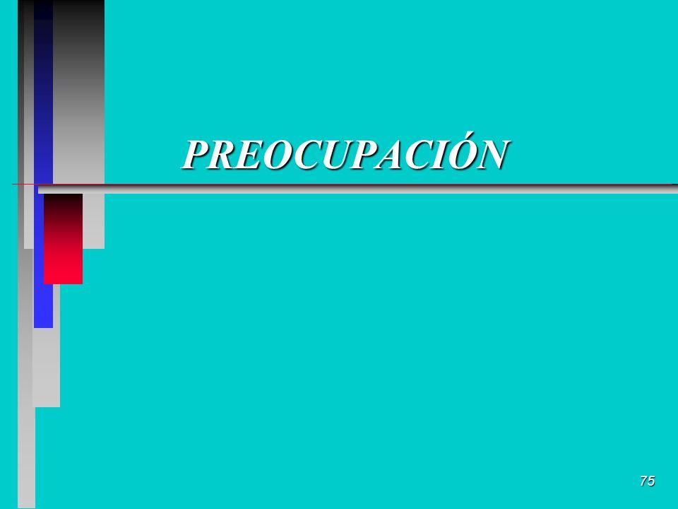 75 PREOCUPACIÓN