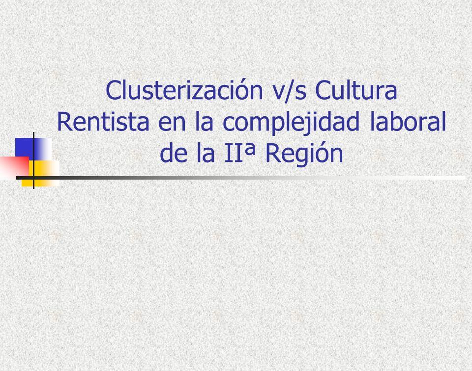 Clusterización v/s Cultura Rentista en la complejidad laboral de la IIª Región