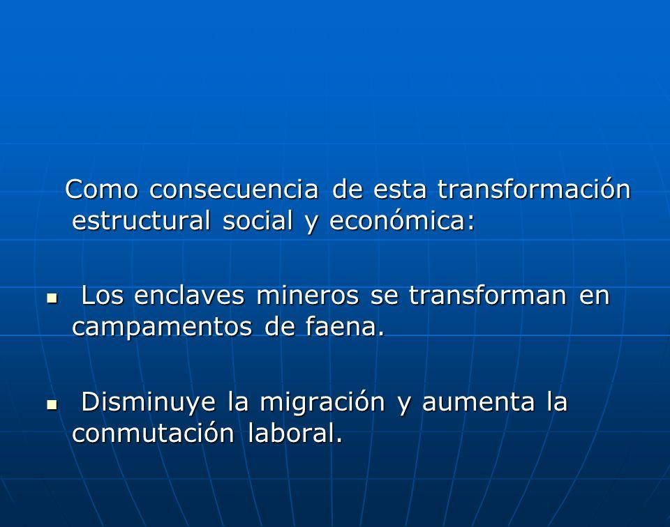 Como consecuencia de esta transformación estructural social y económica: Como consecuencia de esta transformación estructural social y económica: Los
