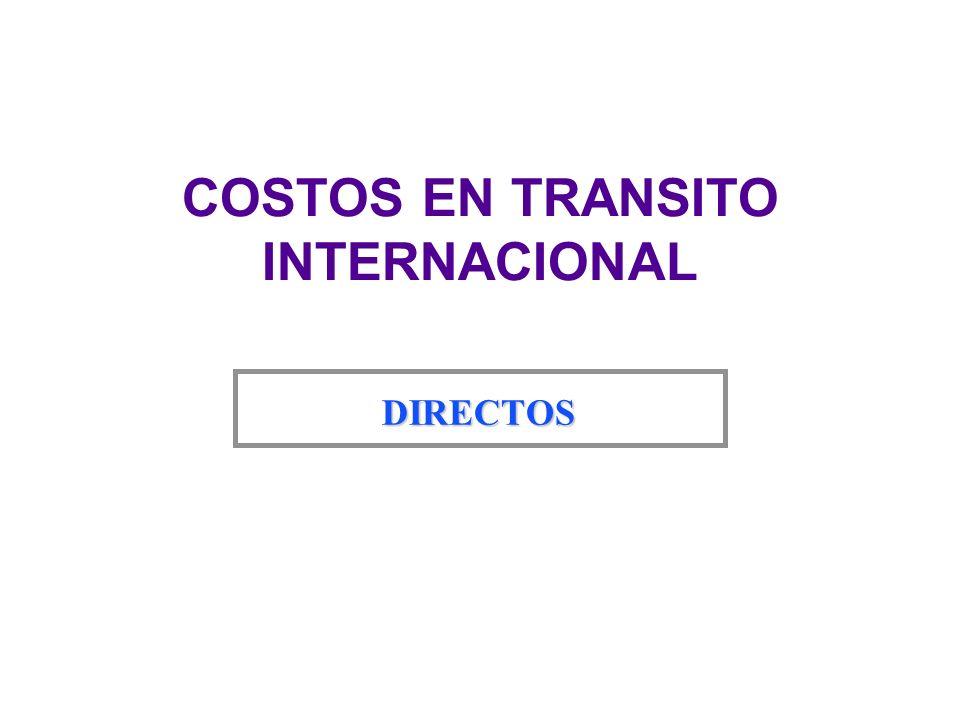 COSTOS EN TRANSITO INTERNACIONAL DIRECTOS
