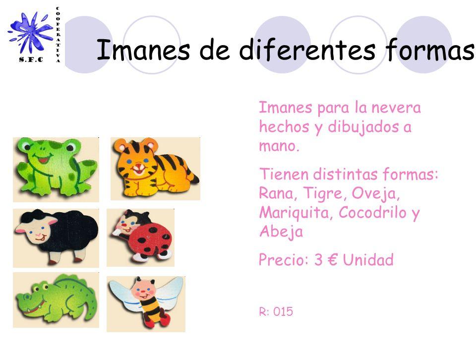 Imanes de diferentes formas Imanes para la nevera hechos y dibujados a mano. Tienen distintas formas: Rana, Tigre, Oveja, Mariquita, Cocodrilo y Abeja