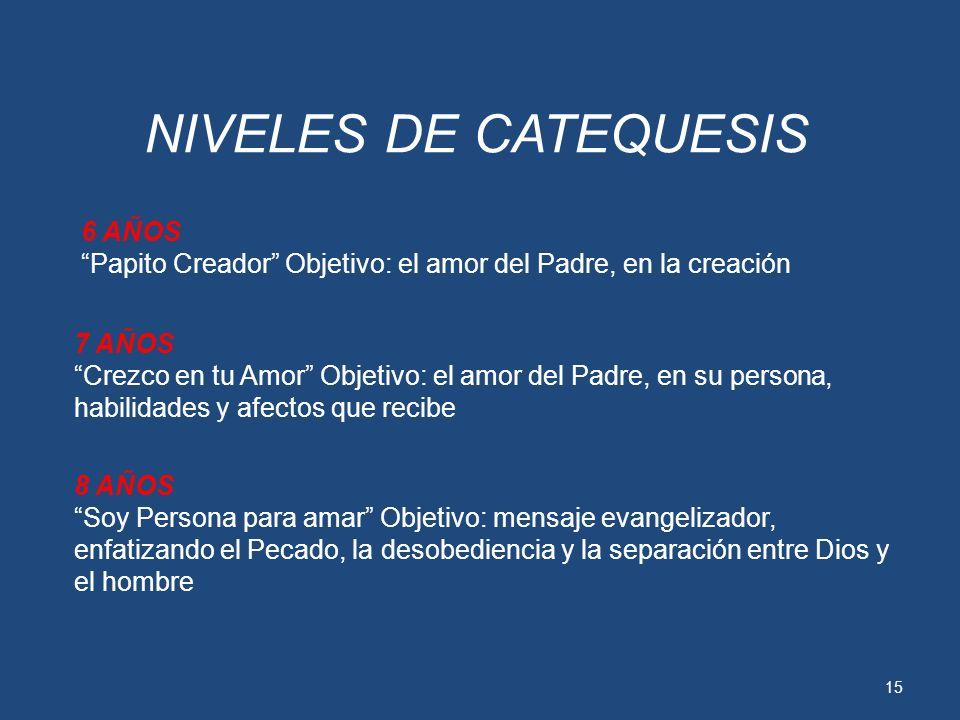 14 AMBIENTE DE DESARROLLO DEL TEMA: Es necesario que el catequista mantenga un ambiente de respeto e intimidad, que ayude a los niños a expresar su co