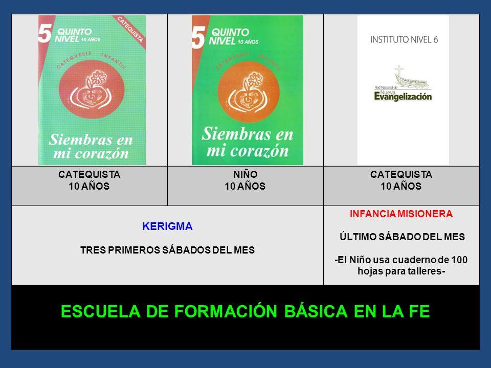 CATEQUISTA 9 AÑOS NIÑO 9 AÑOS CATEQUISTA 9 AÑOS KERIGMA TRES PRIMEROS SÁBADOS DEL MES INFANCIA MISIONERA ÚLTIMO SÁBADO DEL MES -El Niño usa cuaderno d
