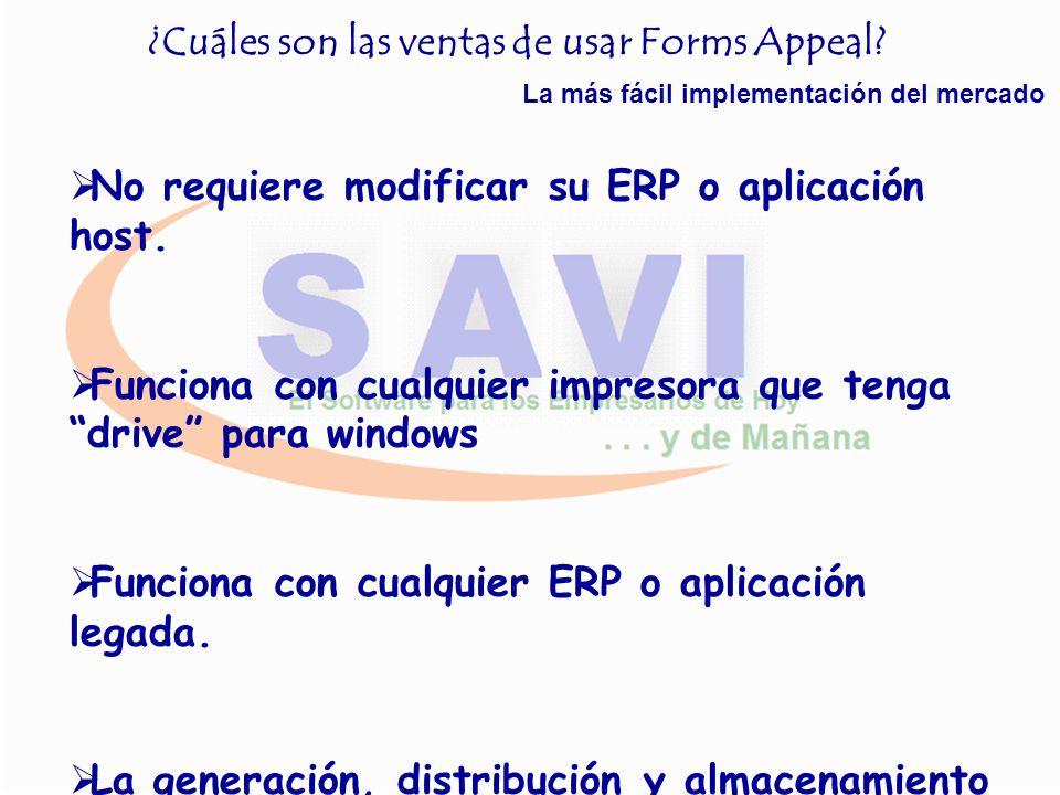 ¿Qué puedo hacer con Forms Appeal? Sustitución de las antiguas formas preimpresas Ahorro tanto en su emisión, almacenamiento, distribución, control y