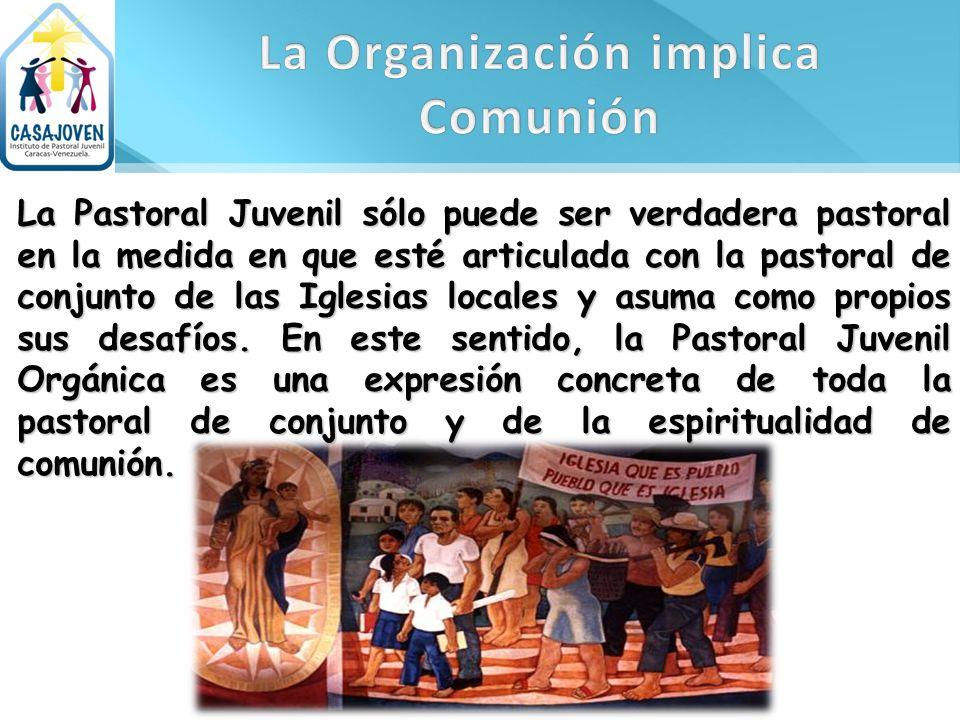 La Pastoral Juvenil sólo puede ser verdadera pastoral en la medida en que esté articulada con la pastoral de conjunto de las Iglesias locales y asuma