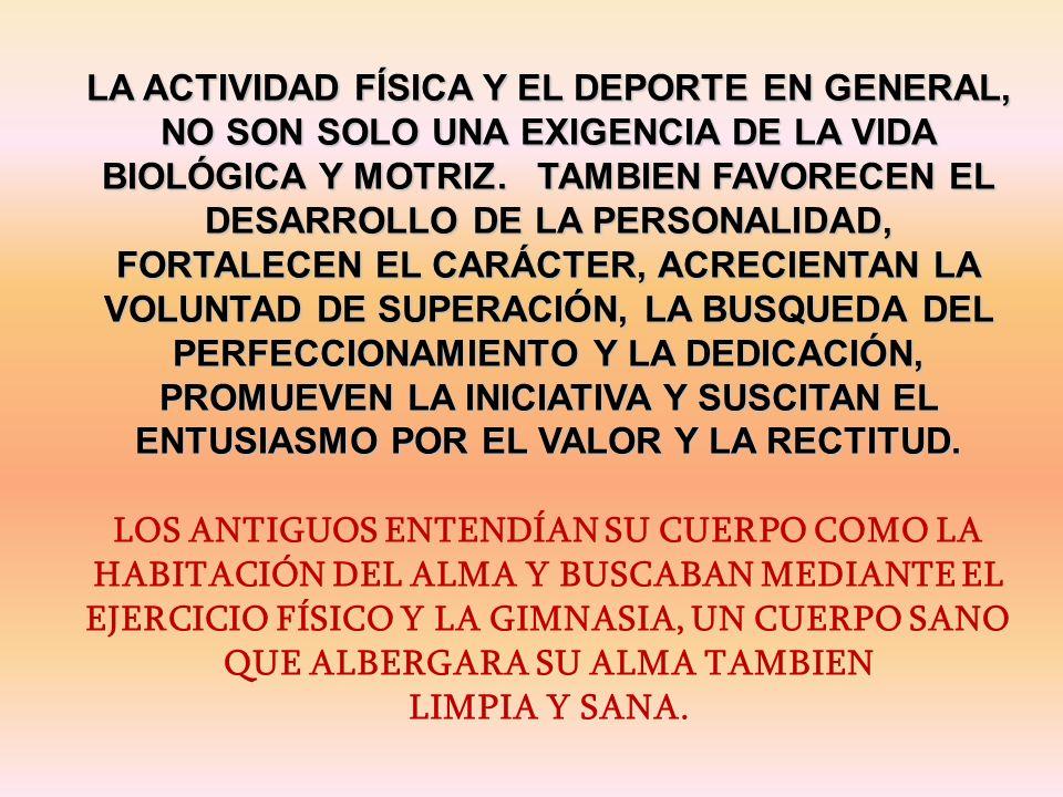 EXISTES EN UN CUERPO EL cual ES EXCLUSIVAMENTE TUYO, PERO TAMBIEN ES TUYA LA RESPONSABILIDAD DE CUIDARLO, DE HACERLO CRECER INTEGRALMENTE Y AYUDARLO A