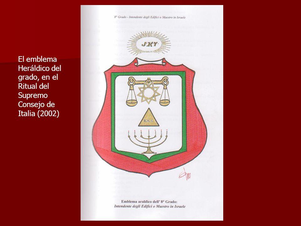 La banda y la joya del grado, en el Ritual del Supremo Consejo de Italia (2002).