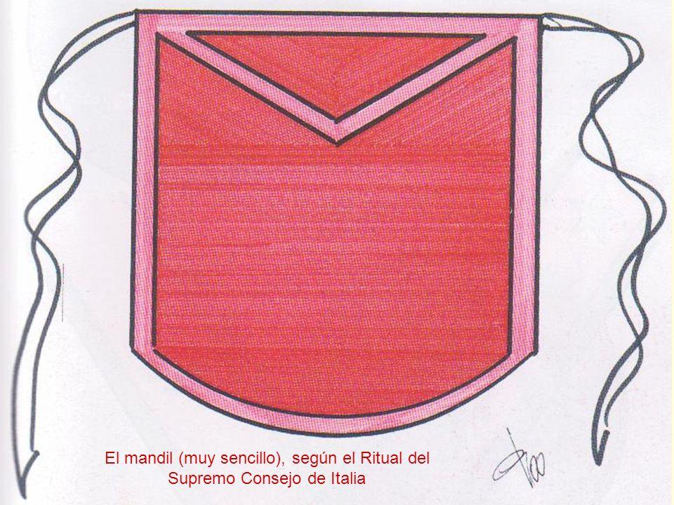 El mandil (muy sencillo), según el Ritual del Supremo Consejo de Italia