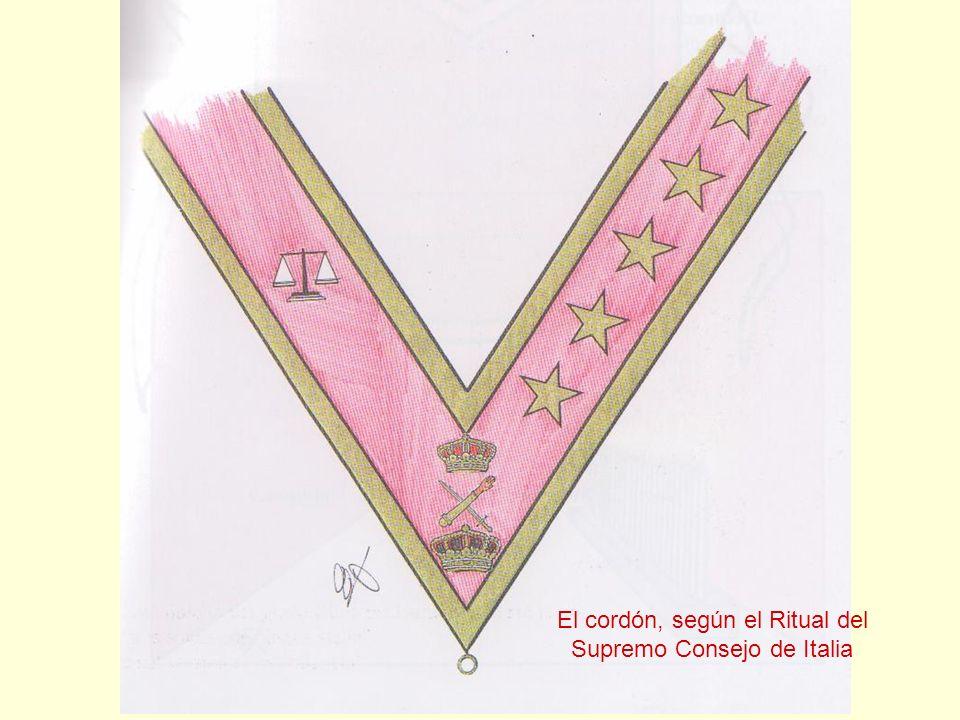 El cordón, según el Ritual del Supremo Consejo de Italia