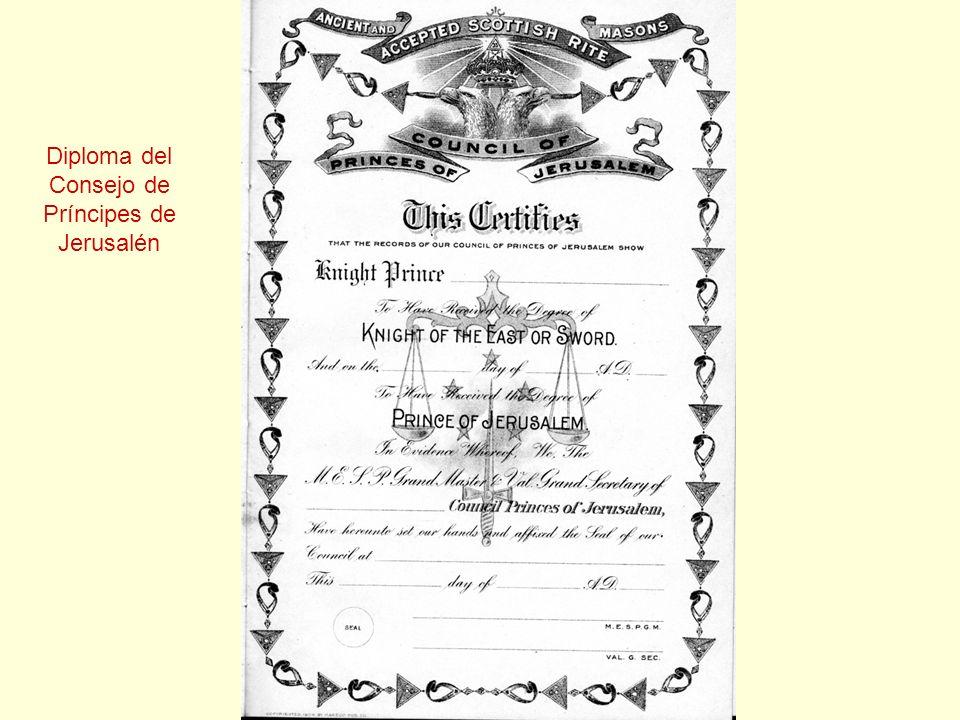 Diploma del Consejo de Príncipes de Jerusalén