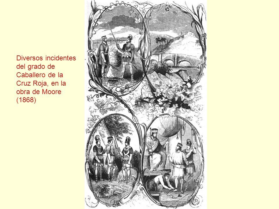 Diversos incidentes del grado de Caballero de la Cruz Roja, en la obra de Moore (1868)