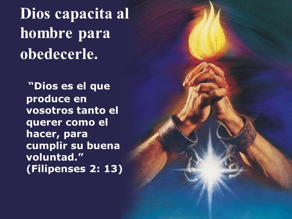 Desobediencia La obediencia es el fruto de la fe, cuando el cristiano decide obedecer.