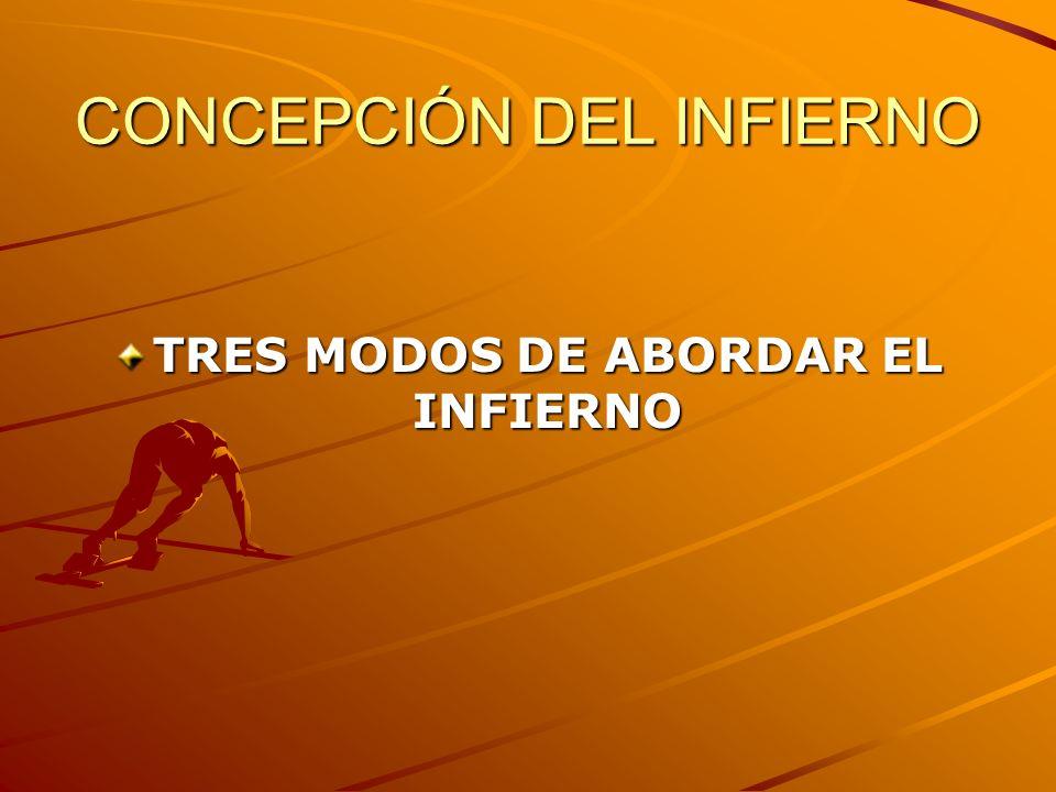 CONCEPCIÓN DEL INFIERNO TRES MODOS DE ABORDAR EL INFIERNO