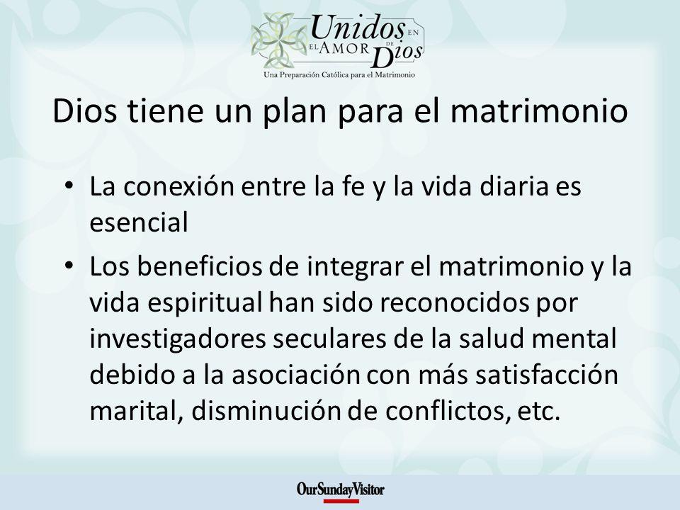 Dios tiene un plan para el matrimonio La conexión entre la fe y la vida diaria es esencial Los beneficios de integrar el matrimonio y la vida espiritu