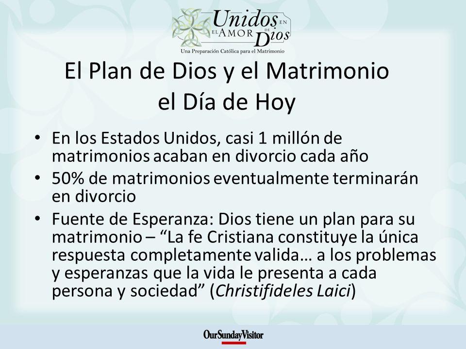 El Plan de Dios y el Matrimonio el Día de Hoy En los Estados Unidos, casi 1 millón de matrimonios acaban en divorcio cada año 50% de matrimonios event