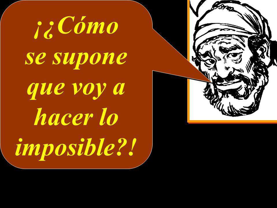 ¡¿Cómo se supone que voy a hacer lo imposible?! ¡¿Cómo se supone que voy a hacer lo imposible?!