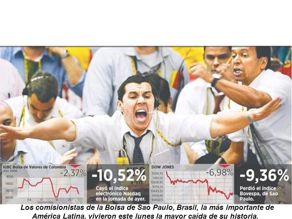 El dolor de las pérdidas | Los comisionistas de la Bolsa de Sao Paulo, Brasil, la más importante de América Latina, vivieron este lunes la mayor caída de su historia.