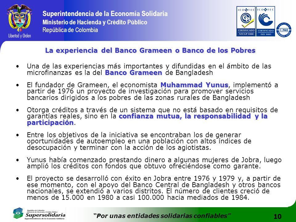 10 Superintendencia de la Economía Solidaria Ministerio de Hacienda y Crédito Público República de Colombia Por unas entidades solidarias confiables L