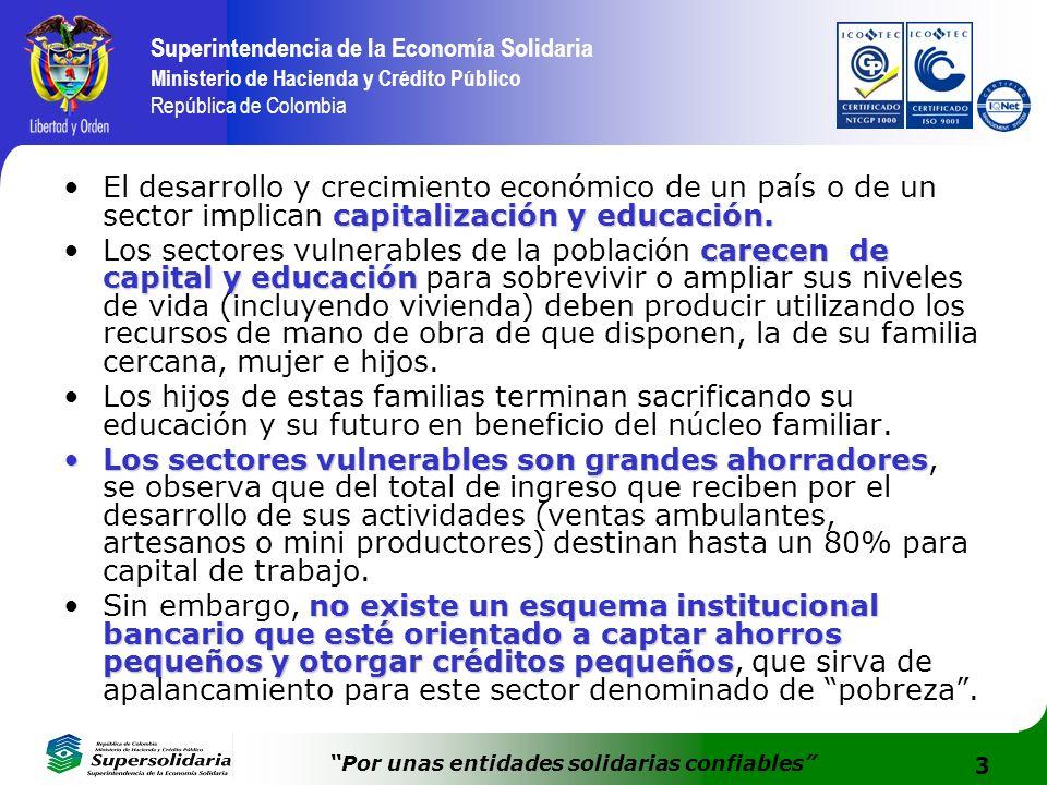 3 Superintendencia de la Economía Solidaria Ministerio de Hacienda y Crédito Público República de Colombia Por unas entidades solidarias confiables ca