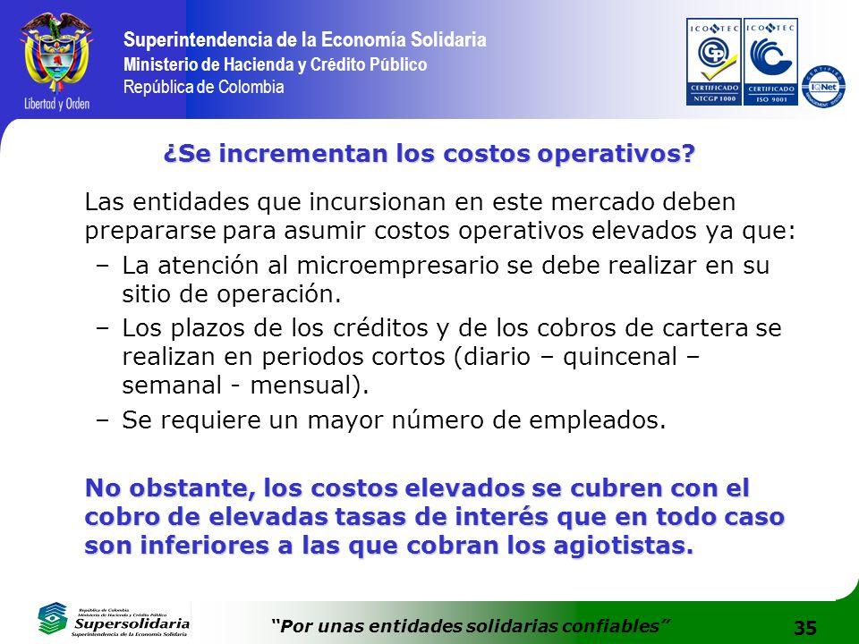 35 Superintendencia de la Economía Solidaria Ministerio de Hacienda y Crédito Público República de Colombia Por unas entidades solidarias confiables ¿
