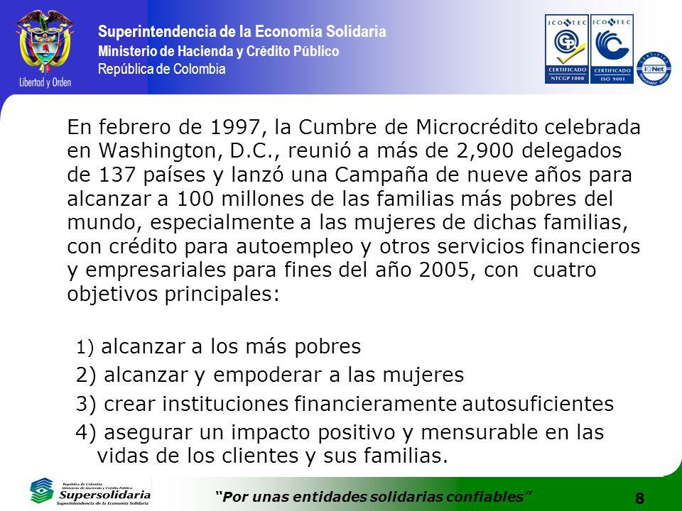 8 Superintendencia de la Economía Solidaria Ministerio de Hacienda y Crédito Público República de Colombia Por unas entidades solidarias confiables En
