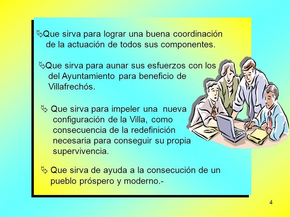 4 Que sirva para lograr una buena coordinación de la actuación de todos sus componentes.