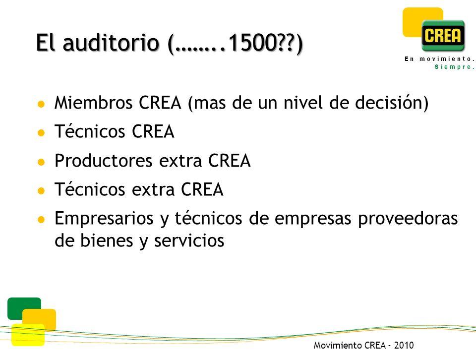 Movimiento CREA - 2010 En movimiento. Siempre.