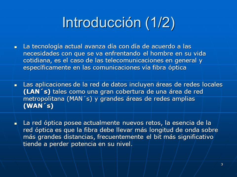 3 Introducción (1/2) La tecnología actual avanza día con día de acuerdo a las necesidades con que se va enfrentando el hombre en su vida cotidiana, es