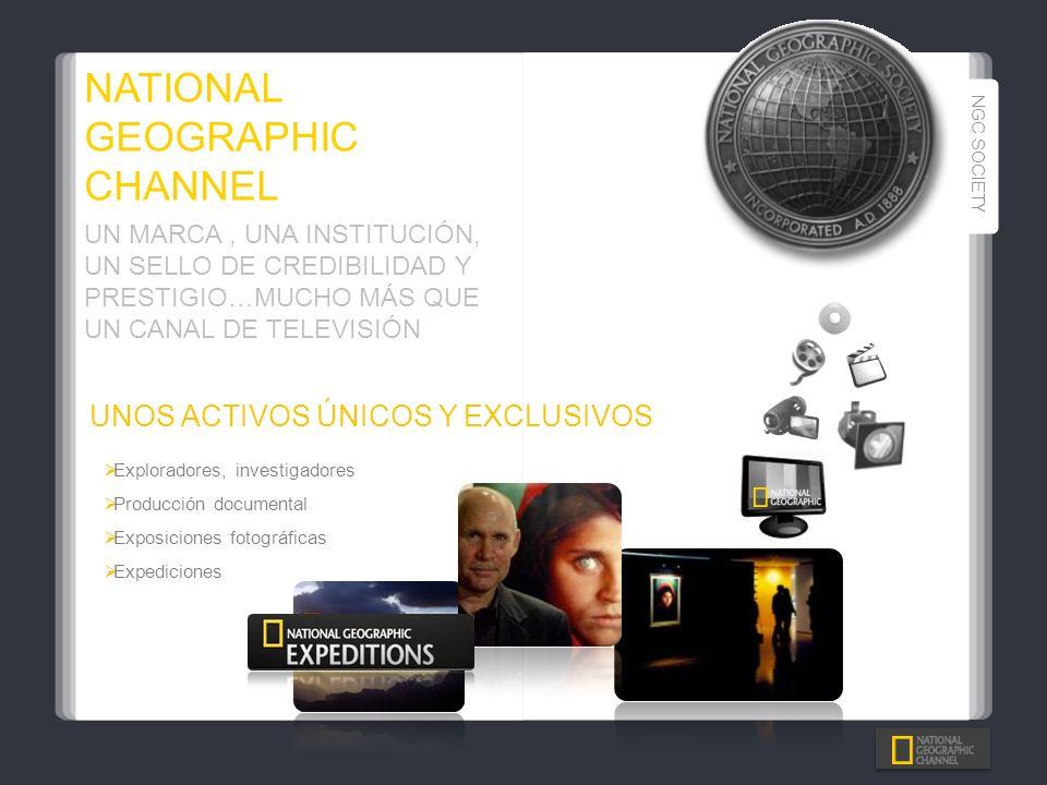 UNOS ACTIVOS ÚNICOS Y EXCLUSIVOS Exploradores, investigadores Producción documental Exposiciones fotográficas Expediciones UN MARCA, UNA INSTITUCIÓN,