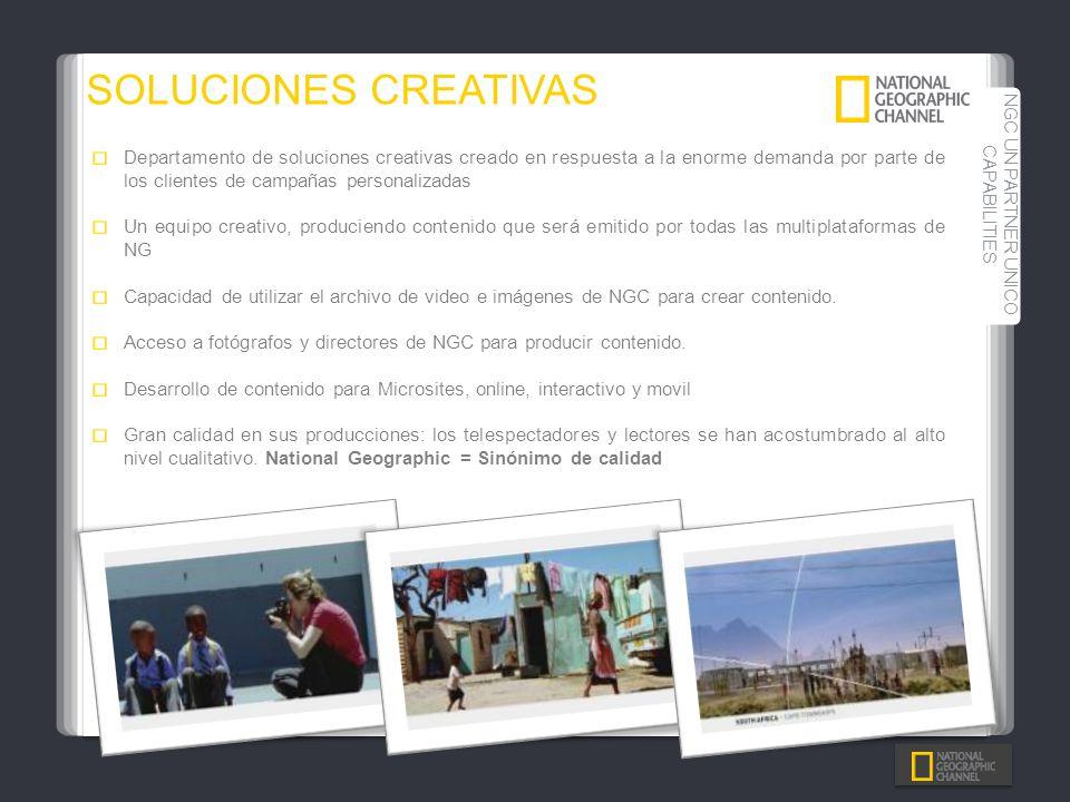Departamento de soluciones creativas creado en respuesta a la enorme demanda por parte de los clientes de campañas personalizadas Un equipo creativo,