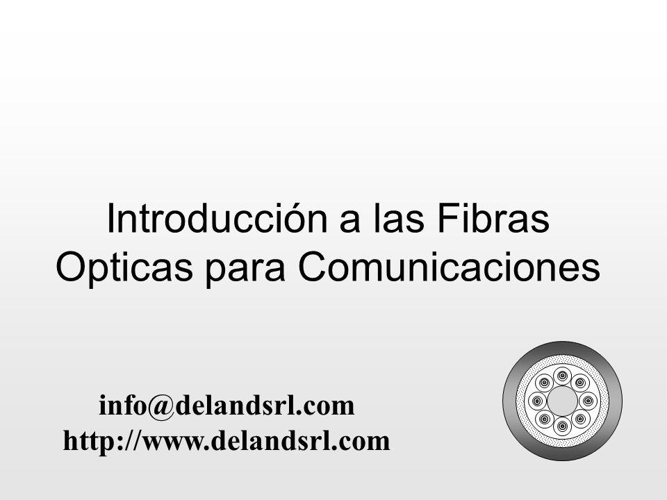 Introducción a las Fibras Opticas para Comunicaciones info@delandsrl.com http://www.delandsrl.com