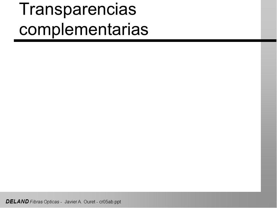 DELAND Fibras Opticas - Javier A. Ouret - cr05ab.ppt Conectorizado y mediciones