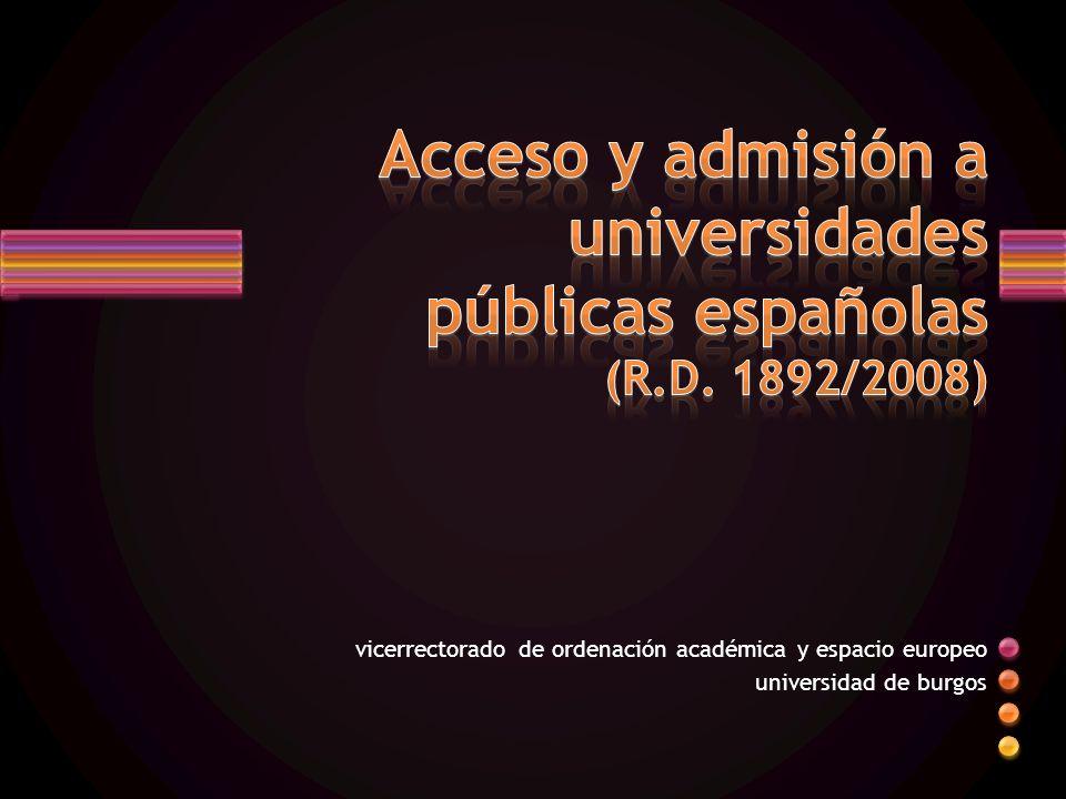vicerrectorado de ordenación académica y espacio europeo universidad de burgos