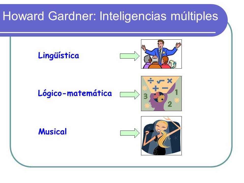 Howard Gardner: Inteligencias múltiples Lingüística Lógico-matemática Musical