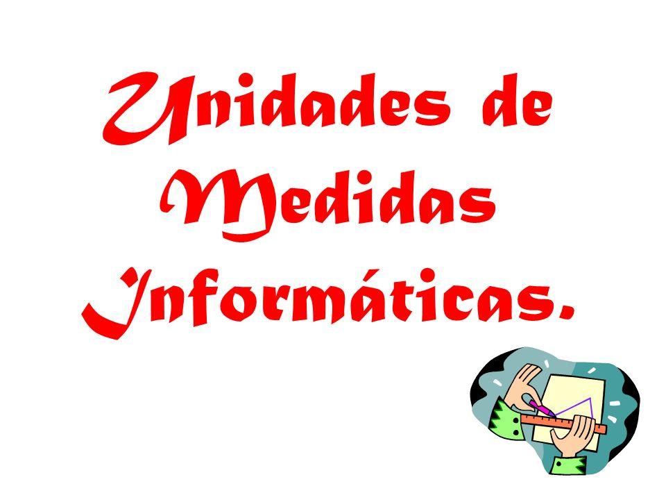 Unidades de Medidas Informáticas.