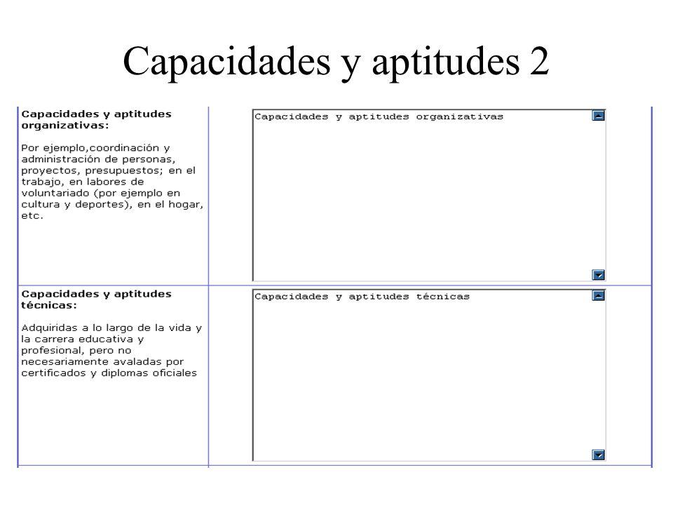Capacidades y aptitudes 2