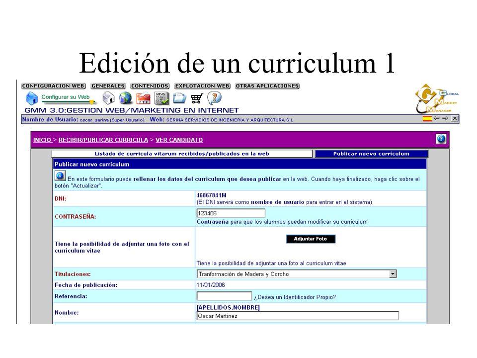 Edición de un curriculum 1