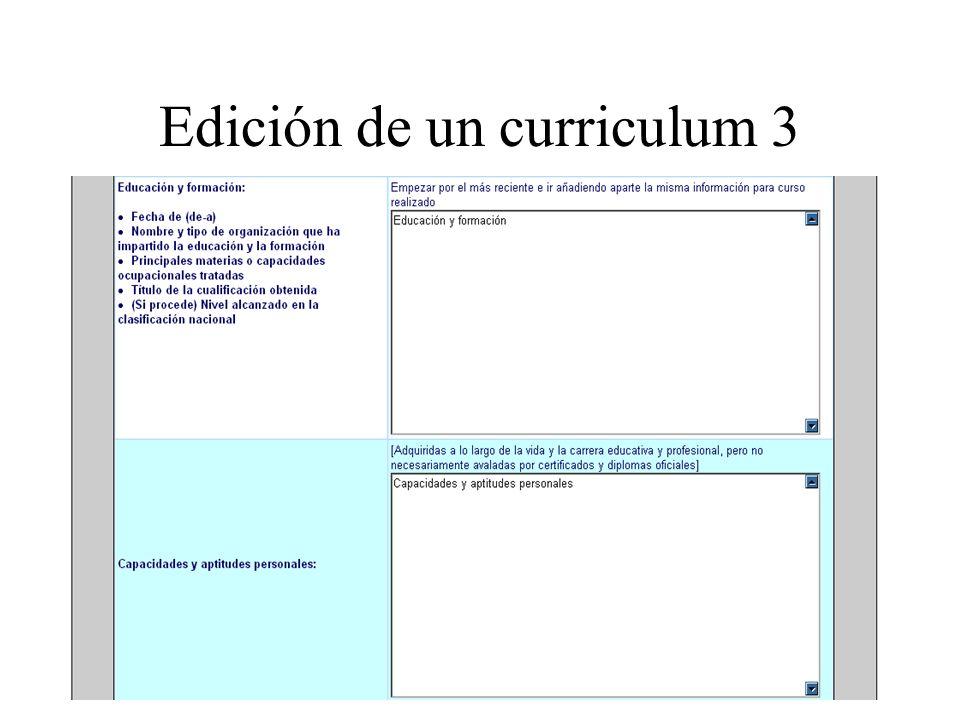 Edición de un curriculum 3