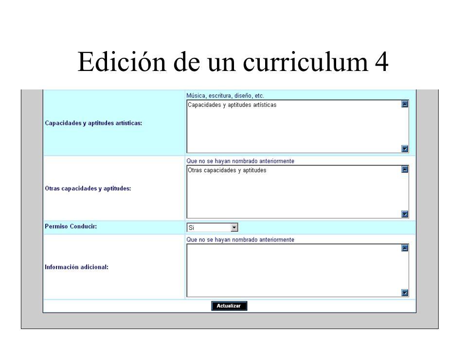 Edición de un curriculum 4
