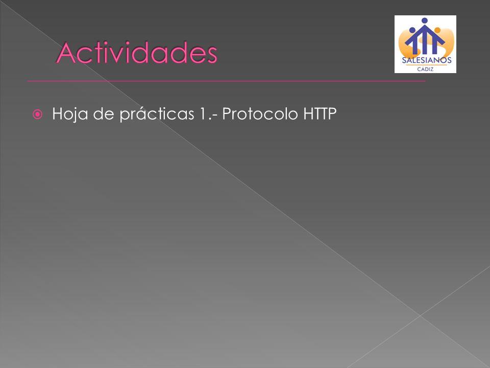 Hoja de prácticas 1.- Protocolo HTTP