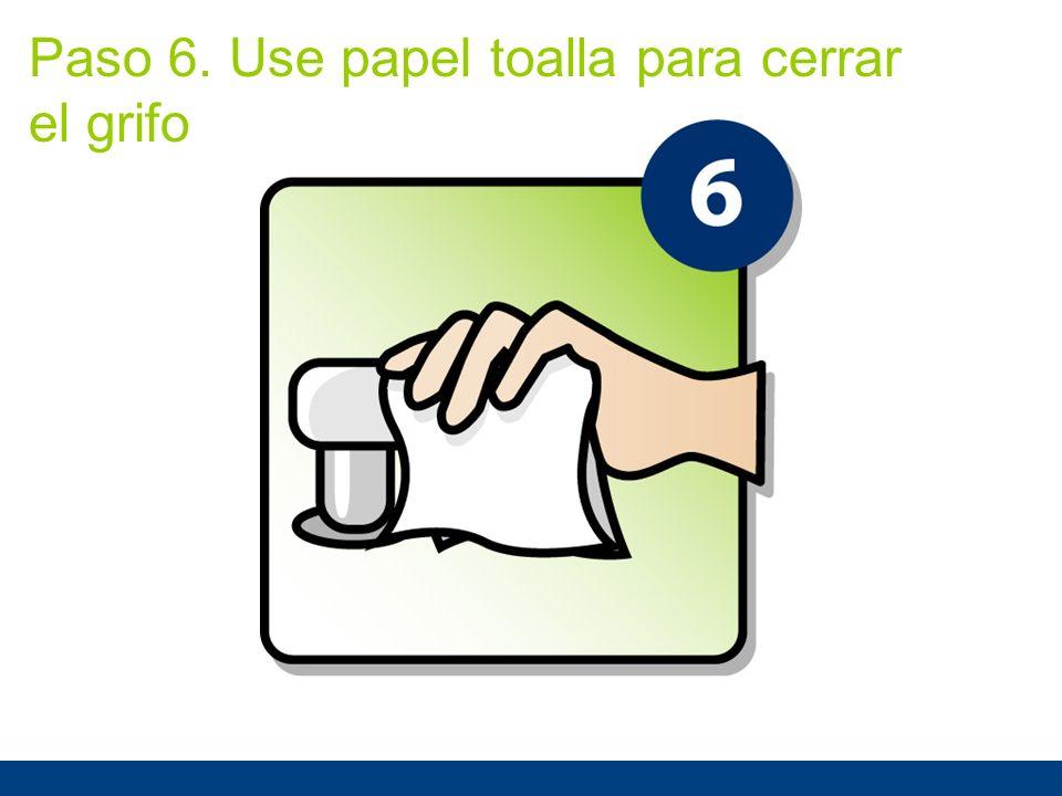 Paso 6. Use papel toalla para cerrar el grifo