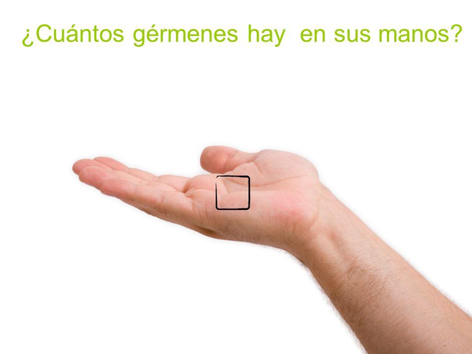 ¿Cuántos gérmenes hay en sus manos?