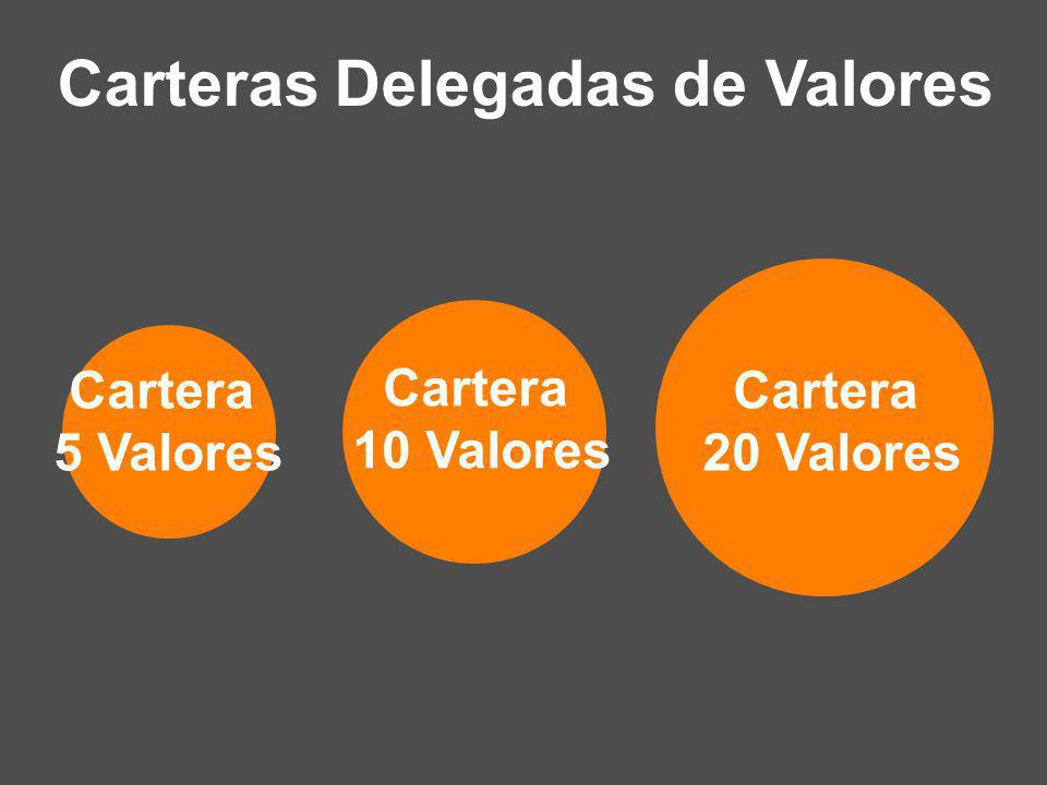 Carteras Delegadas de Valores Cartera 5 Valores Cartera 10 Valores Cartera 20 Valores