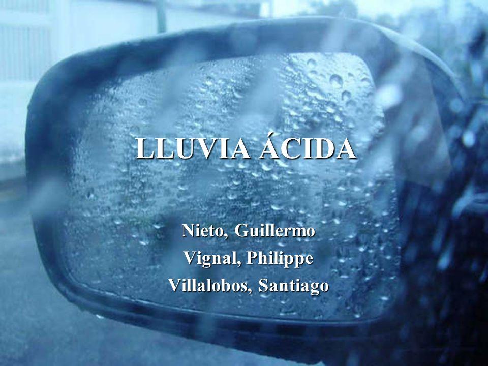 LLUVIA ÁCIDA Nieto, Guillermo Vignal, Philippe Villalobos, Santiago