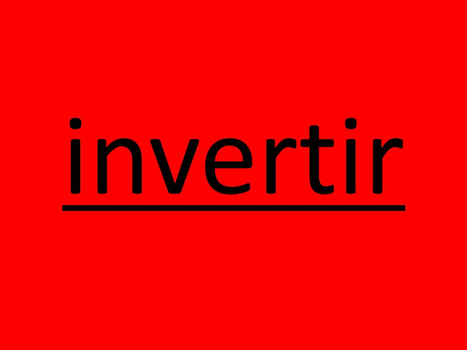 invertir