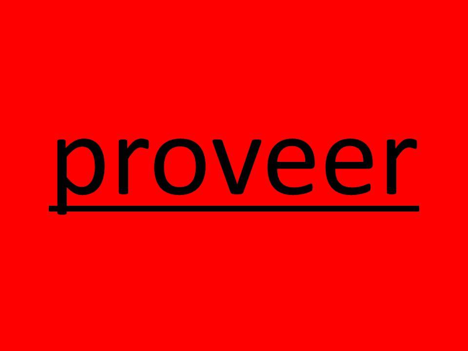 proveer